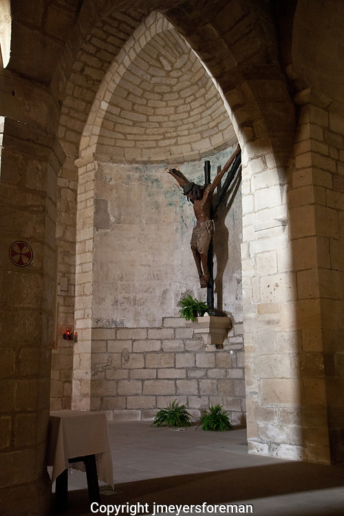 14 Century crucifix emotive y-shapped cross, Christ, Puente La Reina, Iglesia del Crucifijo,