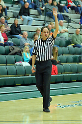 06 December 2017:  Referee Trevor Michels during an NCAA women's basketball game between the Wheaton Thunder and the Illinois Wesleyan Titans in Shirk Center, Bloomington IL