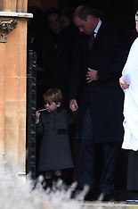The Prince of Wales attends Xmas day Church Service 25 Dec 2016