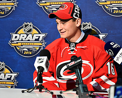 Julien Gauthier of the Val-d'Or Foreurs was selected by the Carolina Hurricanes in the first round of the 2016 NHL Entry Draft in Buffalo, NY on Friday June 24, 2016. Photo by Aaron Bell/CHL Images