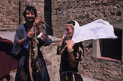 SPAIN /  Extremadura / Badajoz / Alburquerque.  Medieval recreations in Spain. The village celebrates every August Medieval journeys.....