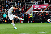 Ander Herrera (21) of Manchester United shoots at goal during the Premier League match between Bournemouth and Manchester United at the Vitality Stadium, Bournemouth, England on 18 April 2018. Picture by Graham Hunt.