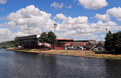 General view across the river Trent towards the ground ahead of the pre-season friendly match at the City Ground, Nottingham.