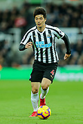 Ki Sung-Yueng (#4) of Newcastle United on the ball during the Premier League match between Newcastle United and Watford at St. James's Park, Newcastle, England on 3 November 2018.