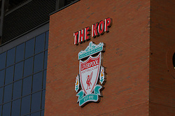 LIVERPOOL, ENGLAND - Saturday, January 26, 2008: Liverpool's famous Spion Kop before the FA Cup 4th Round match at Anfield. (Photo by David Rawcliffe/Propaganda)