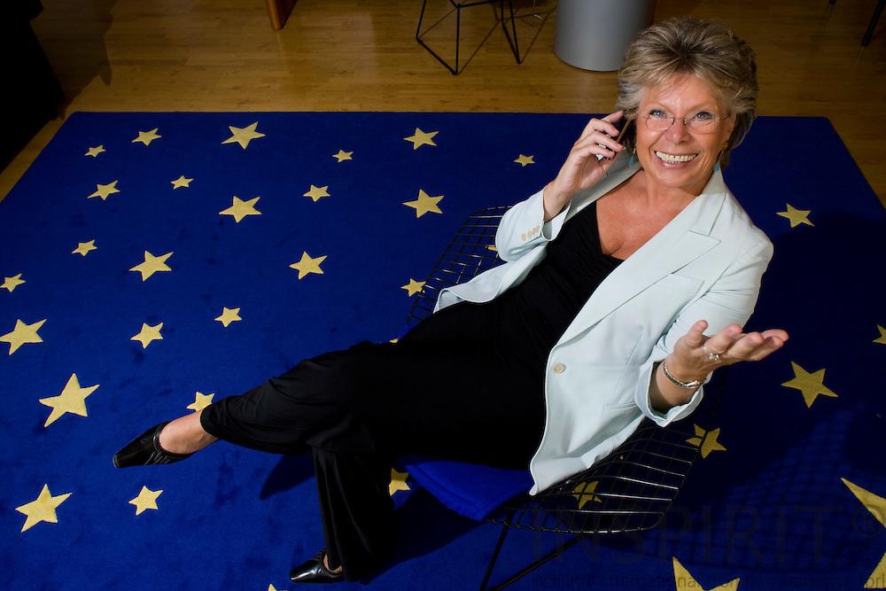 BRUSSELS - BELGIUM - 17 SEPTEMBER 2008 -- Viviane REDING, Commissioner for Information Society and Media .  -- Photo Erik LUNTANG / EUP-Images