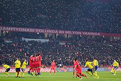 November 17, 2018 - Konya, TURKEY - 181117 Sebastian Larsson of Sweden with a free kick during the Nations League football match between Turkey and Sweden on November 17, 2018 in Konya..Photo: Joel Marklund / BILDBYRN / kod JM / 87808 (Credit Image: © Joel Marklund/Bildbyran via ZUMA Press)