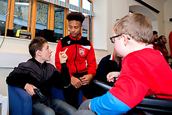 Bobby Reid of Bristol City chats to children during Bristol City's visit to the Children's Hospice South West at Charlton Farm - Mandatory by-line: Robbie Stephenson/JMP - 21/12/2016 - FOOTBALL - Children's Hospice South West - Bristol , England - Bristol City Children's Hospice Visit
