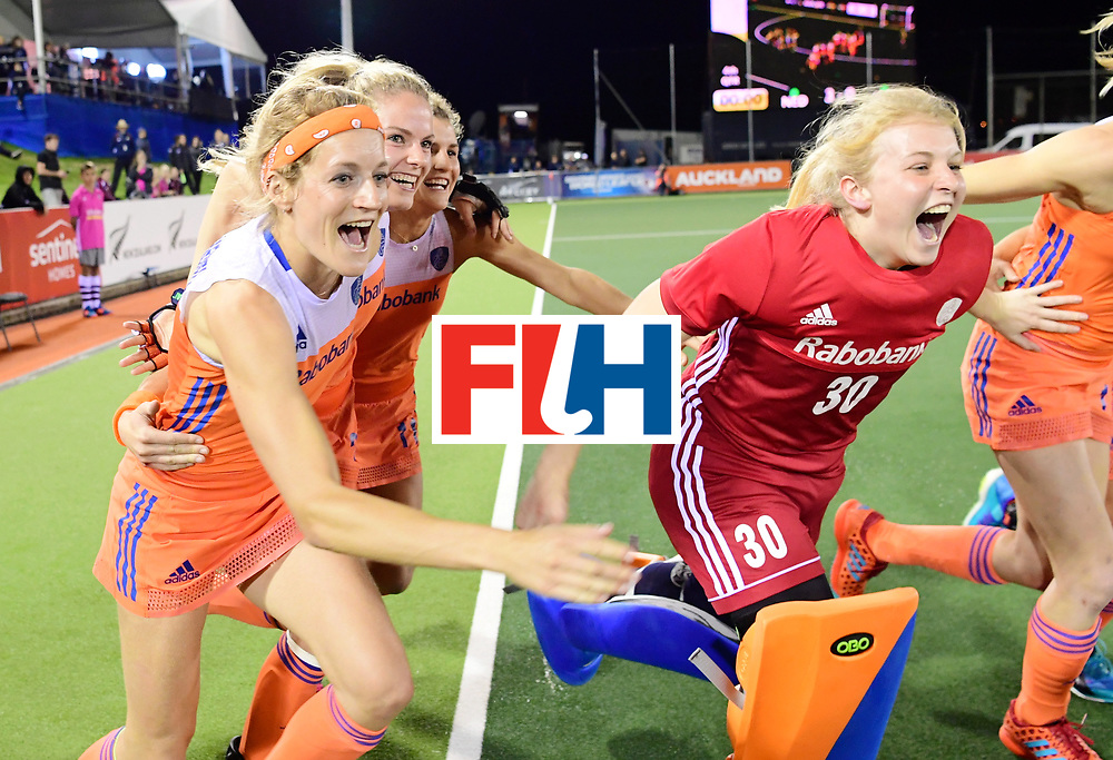 AUCKLAND - Sentinel Hockey World League final women<br /> Match id:10322<br /> 22 NED v NZL (Final)<br /> Foto: <br /> Netherlands wins the Sentinel Hockey World League<br /> WORLDSPORTPICS COPYRIGHT FRANK UIJLENBROEK