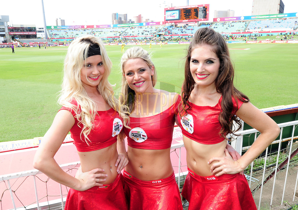 Dancers during match 17 of the Karbonn Smart CLT20 South Africa between The Chennai Superkings and Yorkshire held at Kingsmead Park in Durban, South Africa on the 22nd October 2012..Photo by Gerhard Duraan/SPORTZPICS/CLT20