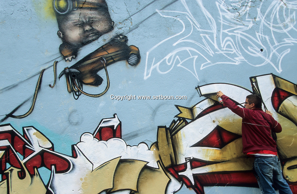 France. Marseille. GRAFFITIS ART IN CORDERIE STREET  Marseille  France  / ARTISTE GRAFFITIS RUE DE LA CORDERIE  Marseille  France  /     L0008313  /  R20711  /  P115860