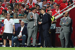September 19, 2018 - Lisbon, Portugal - Bayern Munich's head coach Niko Kovac from Croatia argues with Benfica's head coach Rui Vitoria during the UEFA Champions League Group E football match SL Benfica vs Bayern Munich at the Luz stadium in Lisbon, Portugal on September 19, 2018. (Credit Image: © Pedro Fiuza/ZUMA Wire)