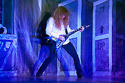Megadeth performing at the Lifestyles Community Pavilion in Columbus, OH on October 10, 2010