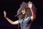 "Erykah Badu performs ""Oh Freedom"" during the 30th Annual Black Music & the Civil Rights Movement Concert at the Morton H. Meyerson Symphony Center in Dallas, Texas, on January 20, 2013.  (Stan Olszewski/The Dallas Morning News)"