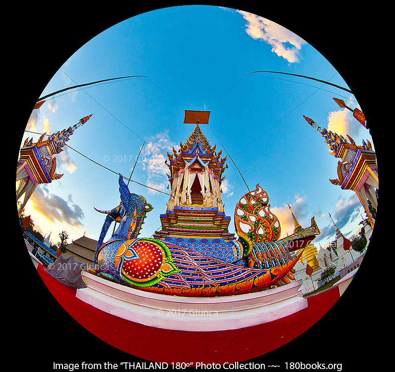 Hussadeeling sculpture and pavilion at Wat Suandok in Chiang Mai, Thailand