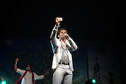 London 19/10/08: Diwali Celebrations light up Trafalgar Square and India's Pop Idol sensation Rahul takes the stage by storm.