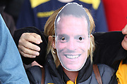 Mike Flynn mask during the EFL Sky Bet League 2 match between Newport County and Notts County at Rodney Parade, Newport, Wales on 6 May 2017. Photo by Daniel Youngs.
