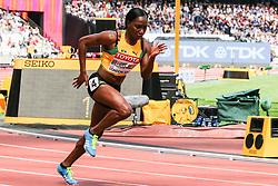 London, 2017 August 06. Novlene Williams-Mills in the heat four of the Women's 400m on day three of the IAAF London 2017 world Championships at the London Stadium. © Paul Davey.