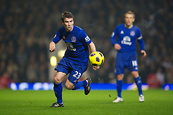 LONDON, ENGLAND - Tuesday, December 28, 2010: Everton's Seamus Coleman in action against West Ham United during the Premiership match at Upton Park. (Pic by: David Rawcliffe/Propaganda)