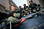 New Orleans, LO, USA, September 6th 2005: Heavily armed police forces patrolling the streets of New Orleans<br /> <br /> Photo: Orjan F: Ellingvag/ Dagbladet *** Local Caption *** Hurricane Katrina