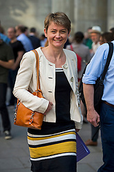 © Licensed to London News Pictures. 06/06/2015. London, UK. YVETTE COPPER leaving the venue.  Current Labour Leadership candidates attend a debate at the Fabien Society Conference, held at the institute of Education in London. Photo credit: Ben Cawthra/LNP