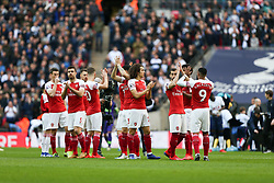 Arsenal players before kick off - Mandatory by-line: Arron Gent/JMP - 02/03/2019 - FOOTBALL - Wembley Stadium - London, England - Tottenham Hotspur v Arsenal - Premier League
