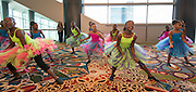 Members of the Bell Elementary School dance company perform during the State of the Schools luncheon at the Hilton of the Americas, February 15, 2017.
