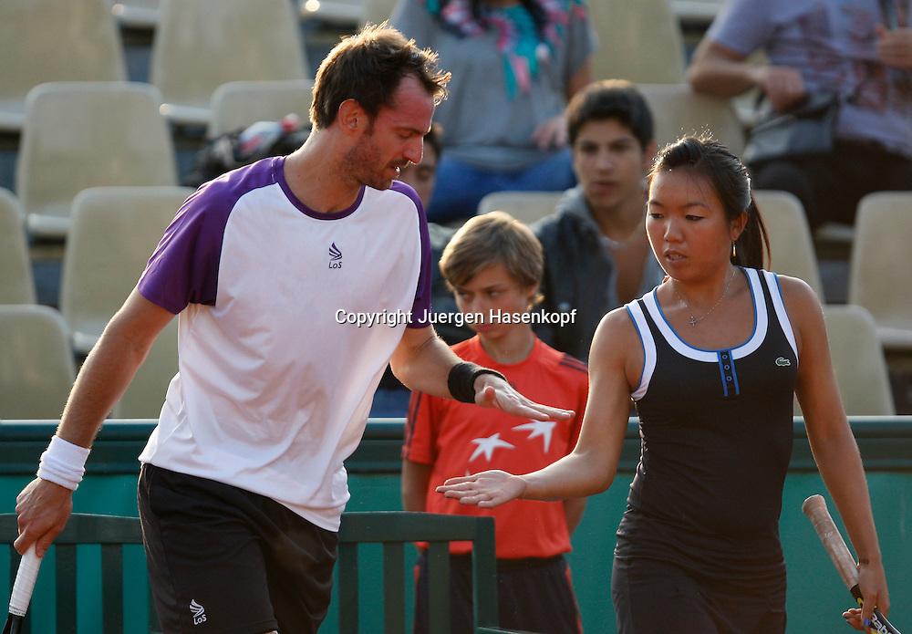 French Open 2010, Roland Garros, Paris, Frankreich,Sport, Tennis, ITF Grand Slam Tournament,..Mixed Doubles Match, Vania King (USA) / Christopher Kas (GER),......Foto: Juergen Hasenkopf..