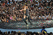 06.JUNE.2010 - LONDON<br /> <br /> CHERYL COLE PERFORMING WITH DANCER DEREK HOUGH AT THE CAPITAL FM SUMMERTIME BALL AT WEMBLEY STADIUM.<br /> <br /> BYLINE MUST READ: EDBIMAGEARCHIVE.COM<br /> <br /> *THIS IMAGE IS STRICTLY FOR UK NEWSPAPERS AND MAGAZINES ONLY*<br /> *FOR WORLDWIDE SALES AND WEB USE PLEASE CONTACT EDBIMAGEARCHIVE - 0208 954 5968*