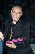Sinead O'Connor before her concert in Brussels