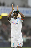 FOOTBALL - FRENCH LEAGUE CUP 2010/2011 - 1/8 FINAL - EA GUINGAMP v OLYMPIQUE MARSEILLE - 27/10/2010 - PHOTO JEAN MARIE HERVIO / DPPI - TAYE TAIWO (OM) AT THE END OF THE MATCH
