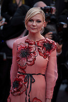 Actress Kirsten Dunst  at the gala screening for Woody Allen's film Café Society at the 69th Cannes Film Festival, Wednesday 11th May 2016, Cannes, France. Photography: Doreen Kennedy