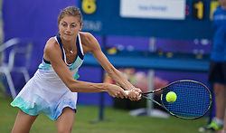 LIVERPOOL, ENGLAND - Sunday, June 23, 2019: Corinna Dentoni (ITA) during the Ladies' Final on during Day Four of the Liverpool International Tennis Tournament 2019 at the Liverpool Cricket Club. (Pic by David Rawcliffe/Propaganda)