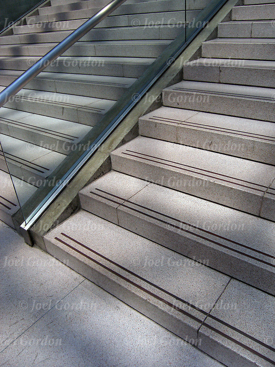 Interior stairway to sucess in modern office building, stairs or step leading up