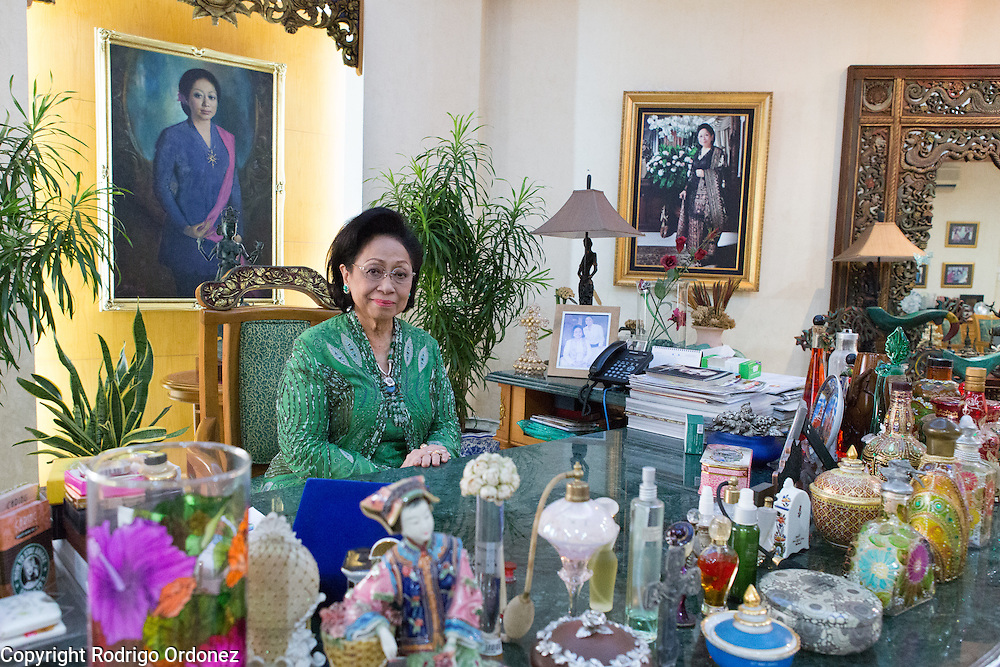 Martha Tilaar, founder of the Martha Tilaar Group, poses for a portrait at her office in East Jakarta, Indonesia, on July 2, 2015.