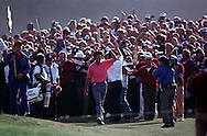 IAN BAKER FINCH WALKS UP 18TH TO WIN<br />OPEN CHAMPIONSHIP 1991<br />ROYAL BIRKDALE <br />JULY 1991