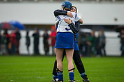 24/09/2016, Intermediate Camogie Final at Trim.<br /> Boardsmill vs Dunderry<br /> Carolanna Foley & Patricia Cully celebrate after defeating Dunderry in the intermediate Camogie Final<br /> Photo: David Mullen /www.cyberimages.net / 2016<br /> ISO: 1000; Shutter: 1/1328; Aperture: 4; <br /> File Size: 2.7MB<br /> Print Size: 8.6 x 5.8 inches