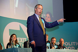 Nigel Farage speaking to an audience of Brexit Party supporters at the Corn Exchange pic copyright Terry Murden @edinburghelitemedia