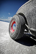 Image of a hot rod detail at the Bonnville Salt Flats, Utah, American Southwest