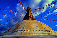 Boudhanath Stupa (holiest site in Nepal for Tibetan Buddhists), Kathmandu, Nepal