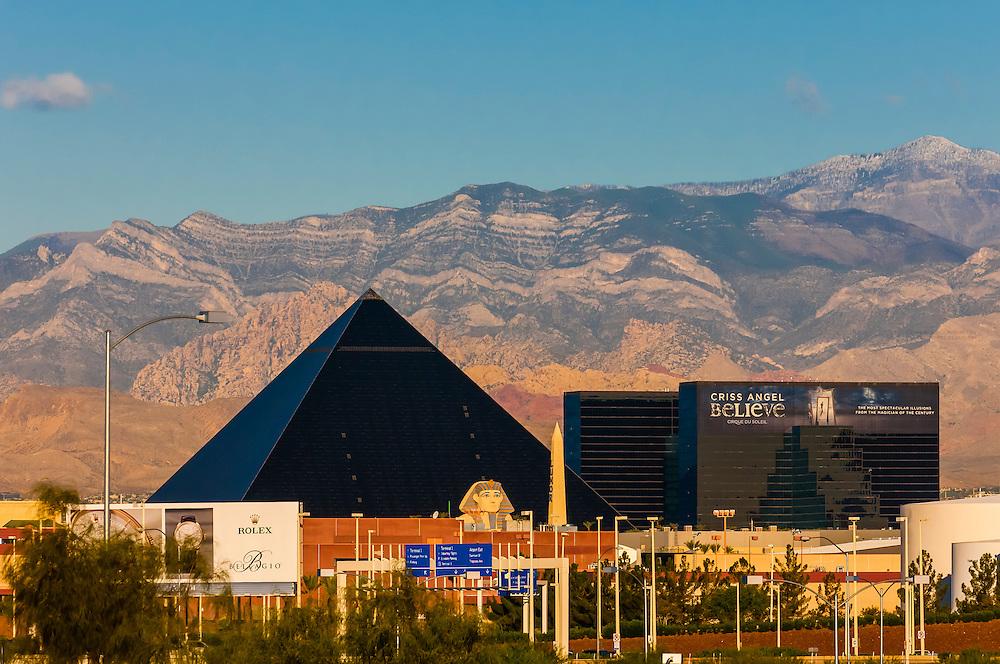 Luxor Hotel & Casino, The Strip,  Las Vegas, Nevada USA.