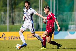 Kristijan Sipek of ND Gorica and Zurga Tom of NK Triglav  during Football match between NK Triglav Kranj and ND Gorica in 30th Round of Prva liga Telekom Slovenije 2018/19, on May 2nd, 2019, in Sports park Kranj, Slovenia. Photo by Grega Valancic / Sportida