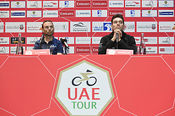 February 23, 2019 - Abu Dhabi - Foto LaPresse - Fabio Ferrari.23 Febbraio 2019 Abu Dhabi (Emirati Arabi Uniti).Sport Ciclismo.UAE Tour 2019 - Conferenza Tor Riders.Nella foto: Alejandro Valverde,Tom Dumoulin..Photo LaPresse - Fabio Ferrari.February 23, 2019 Abu Dhabi (United Arab Emirates) .Sport Cycling.UAE Tour 2018 - Top rider press conference.In the pic: Alejandro Valverde, Tom Dumoulin (Credit Image: © Fabio Ferrari/Lapresse via ZUMA Press)