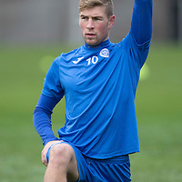 St Johnstone Training....21.11.14<br /> David Wotherspoon pictured during training this morning ahead of tomorrow's league gam against Ross County.<br /> Picture by Graeme Hart.<br /> Copyright Perthshire Picture Agency<br /> Tel: 01738 623350  Mobile: 07990 594431