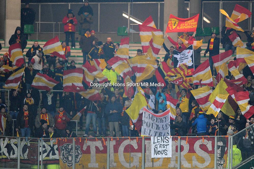 Supporters Lens  - 06.02.2015 - Saint Etienne / Lens - 24eme journee de Ligue 1 -<br /> Photo : Jean Paul Thomas / Icon Sport