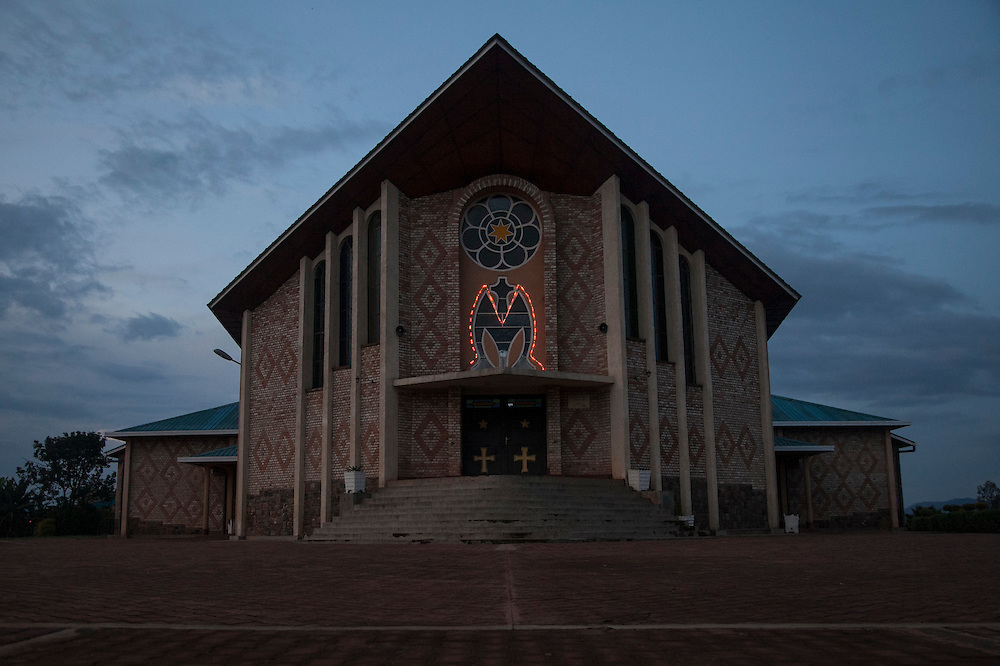 The Shrine of Our Lady of Sorrows in Kibeho, Rwanda, is the only sanctioned Marian sanctuary in Africa. Kibeho's overseers and the Rwandan government hope this place will become a top tourism site. <br /> <br /> Photographed on Saturday, October 25, 2014.<br /> <br /> Photo by Laura Elizabeth Pohl