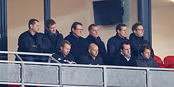 ST. HELENS, ENGLAND - Wednesday, January 15, 2014: Liverpool's manager Brendan Rodgers and assistant manager Colin Pascoe watch the Under-18's in action against Aston Villa during the FA Youth Cup 4th Round match at Langtree Park. (Pic by David Rawcliffe/Propaganda)