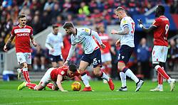 Luke Murphy of Bolton Wanderers fouls Callum O'Dowda of Bristol City - Mandatory by-line: Nizaam Jones/JMP- 12/01/2019 - FOOTBALL -Ashton Gate Stadium- Bristol,England- Bristol City v Bolton Wanderers - Sky Bet Championship