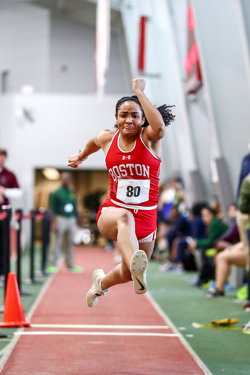 womens triple jump, BU, Kennedy Jones<br /> Boston University Scarlet and White<br /> Indoor Track & Field, Bruce LeHane