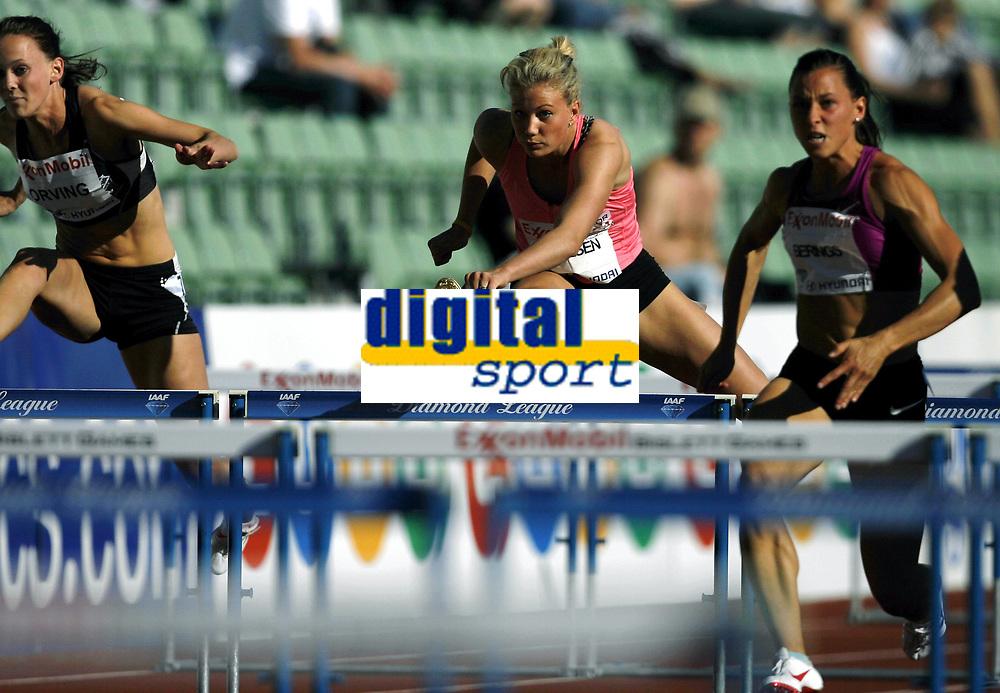 Friidrett, 4. juni 2010,  Diamond League , Bislett Games Oslo<br /> <br /> <br /> Isabelle Pedersen p&aring; 100 meter hekk